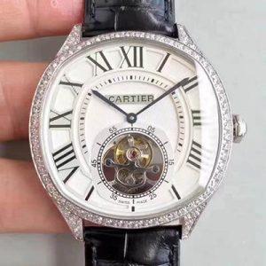 卡地亚W4100013 高仿卡地亚陀飞轮W4100013复刻表 镶钻版价格_多少钱_报价-实名表业高仿手表商城