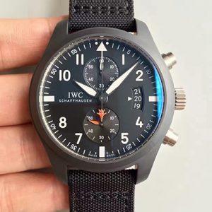 【万国IW388001】ZF厂一比一高仿万国IWC-飞行员腕表系列 IW388001 黑面价格_多少钱_报价-实名表业高仿手表商城