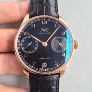 【万国IW500702】ZF厂一比一高仿万国IWC葡萄牙系列IW500702 18K玫瑰金 黑面 自动机械男表 品质一流价格_多少钱_报价-实名表业高仿手表商城