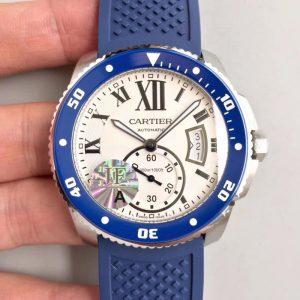 JF厂卡地亚Cartier 卡历博系列WSCA0011 白盘 潜水男表 全自动机械男表价格_多少钱_报价-实名表业高仿手表商城