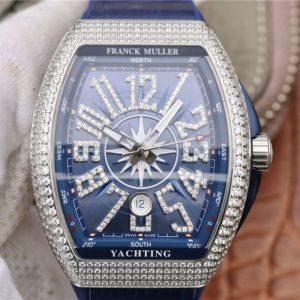 法兰穆仿品 高仿法穆兰vanguard系列v45白金镶钻 蓝盘男士手表价格_多少钱_报价-实名表业高仿手表商城
