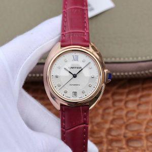 高仿手表卡地亚钥匙系列WJCL0032 卡地亚钥匙系列玫瑰金款 钻石刻度价格_多少钱_报价-实名表业高仿手表商城