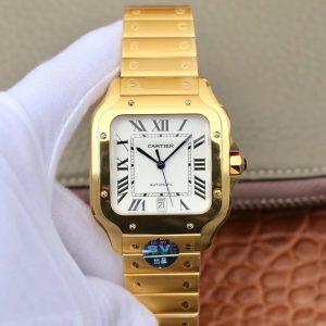 卡地亚山度士系列金色男士手表 BV新款山度士WGSA0009价格_多少钱_报价-实名表业高仿手表商城